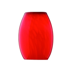 Red Cirrus Oblong Glass Shade - 1-1/8-Inch Fitter Opening