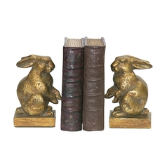 Sterling Lighting Bunny Rabbit Decorative Bookends 4-83037