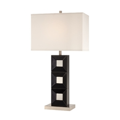 Lite Source Lighting Dillon Bronze Table Lamp with Rectangle Shade