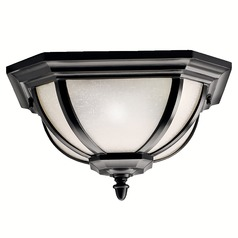 Kichler Black Flushmount Outdoor Ceiling Light