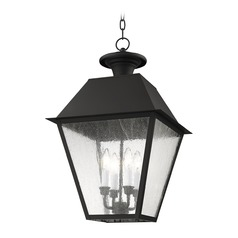 Livex Lighting Mansfield Black Outdoor Hanging Light