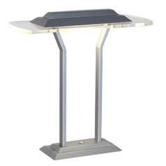 Lite Source Slate Silver / Clear LED Table Lamp