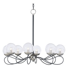 Maxim Lighting Reverb Black / Polished Nickel Chandelier