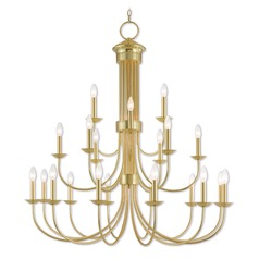 Livex Lighting Estate Polished Brass Chandelier
