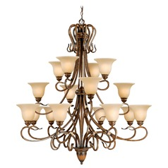 Berkeley Aged Walnut Chandelier by Vaxcel Lighting