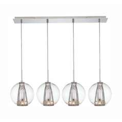 Modern Multi-Light Pendant Light 4-Lights