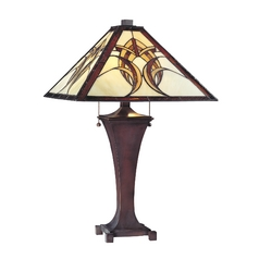 Design Classics Lighting Tiffany Table Lamp 1611 BZ