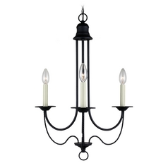 Mini-Chandelier in Blacksmith Finish