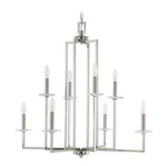Capital Lighting Morgan Polished Nickel Crystal Chandelier