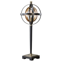 Mid-Century Modern Table Lamp Dark Oil Rubbed Bronze and Gold Leaf by Uttermost Lighting