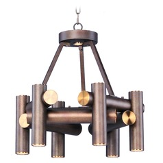 Maxim Lighting Tubular LED Bronze Fusion / Antique Brass LED Mini-Chandelier