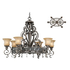 Bellagio Parisian Bronze Chandelier by Vaxcel Lighting