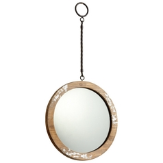 Through the Looking Glass Round 11-Inch Mirror