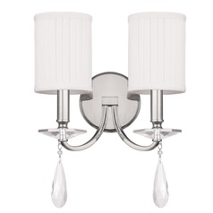 Capital Lighting Alisa Polished Nickel Sconce