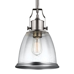 Feiss Hobson Satin Nickel Mini-Pendant Light
