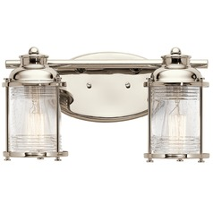 Kichler Lighting Ashland Bay Polished Nickel Bathroom Light