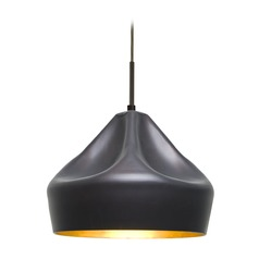 Besa Lighting Lotus Bronze LED Pendant Light with Warehouse Shade