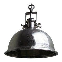 Dome Pendant Light in Raw Nickel Finish