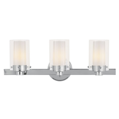 Livex Lighting Manhattan Chrome Bathroom Light