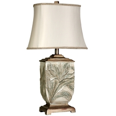 Stylecraft Brass Table Lamp with Bell Shade