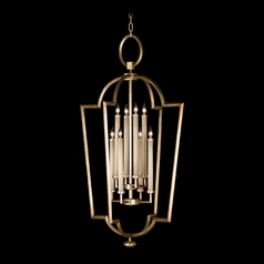 Fine Art Lamps Allegretto Gold Burnished Gold Leaf with Subtle Brown Highlights Pendant Light