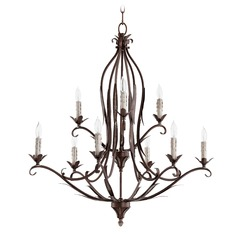 Quorum Lighting Flora Vintage Copper Chandelier