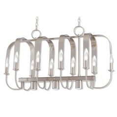 Livex Lighting Addison Brushed Nickel Island Light