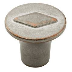 Weathered Nickel Copper Cabinet Knob