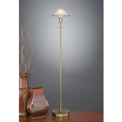 Holtkoetter Modern Floor Lamp with Alabaster Glass in Antique Brass Finish