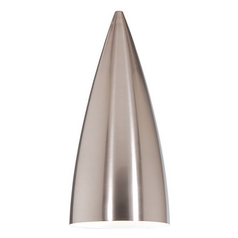 WAC Lighting Brushed Nickel Conical Lamp Shade with Lamp Shade Assembly G966-BN
