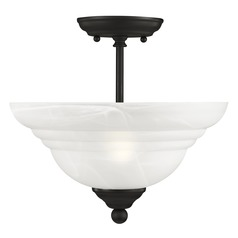 Livex Lighting North Port Black Semi-Flushmount Light