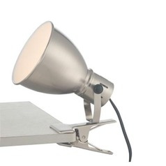 Lite Source Kiefer Brushed Nickel Clip-On Lamp