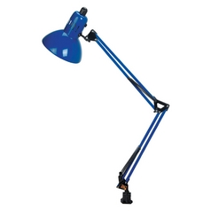 Lite Source Lighting Swing-Arm Blue Clamp Desk Lamp