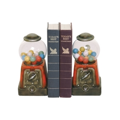 Vintage Bubblegum Machine Bookends
