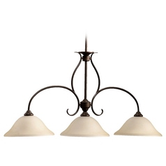 Quorum Lighting Spencer Oiled Bronze Island Light