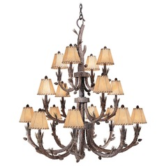 Aspen Pine Tree Chandelier by Vaxcel Lighting