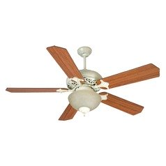 Craftmade Lighting Mia Antique White Distressed Ceiling Fan with Light