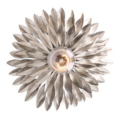 Crystorama Lighting Broche Antique Silver Sconce