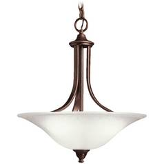 Kichler Lighting Kichler Pendant Light with White Glass in Tannery Bronze Finish 10702TZ