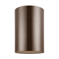 Sea Gull Lighting Outdoor Cylinders Bronze LED Close To Ceiling Light