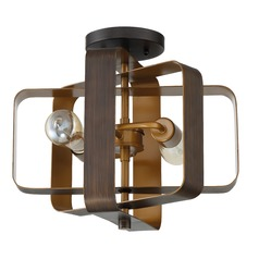 Craftmade 2-Light Aged Bronze Brushed Semi-Flushmount Light