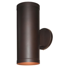 Outdoor Wall Light with Cylinder Shade in Bronze Finish