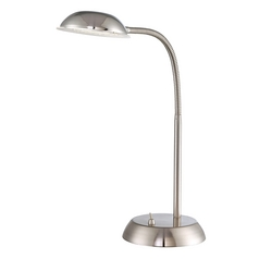 Lite Source Lighting Eladio Polished Steel LED Desk Lamp