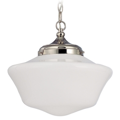 14-Inch Period Lighting Schoolhouse Pendant Light with Chain