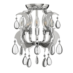 Frederick Ramond Xanadu Polished Stainless Steel Semi-Flushmount Light