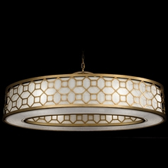 Fine Art Lamps Allegretto Gold Burnished Gold Leaf with Subtle Brown Highlights Pendant Light with D