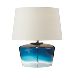 Dimond Lighting Blue, Clear Table Lamp with Empire Shade