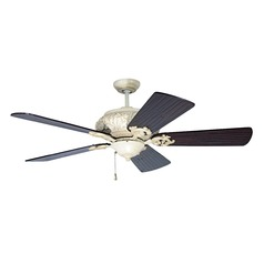 Craftmade Lighting Ophelia Antique White Distressed Ceiling Fan Without Light