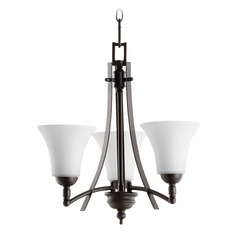 Quorum Lighting Aspen Oiled Bronze Mini-Chandelier