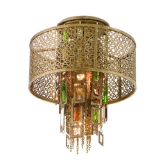 Corbett Lighting Riviera Bronze W/sil Semi-Flushmount Light